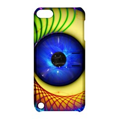 Eerie Psychedelic Eye Apple iPod Touch 5 Hardshell Case with Stand