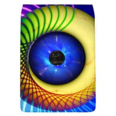 Eerie Psychedelic Eye Removable Flap Cover (Large)