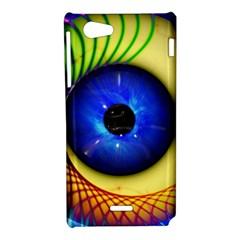 Eerie Psychedelic Eye Sony Xperia J Hardshell Case