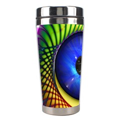 Eerie Psychedelic Eye Stainless Steel Travel Tumbler