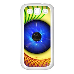 Eerie Psychedelic Eye Samsung Galaxy S3 Back Case (White)