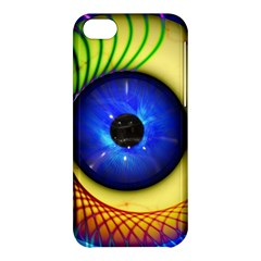 Eerie Psychedelic Eye Apple iPhone 5C Hardshell Case