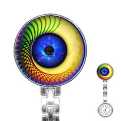 Eerie Psychedelic Eye Stainless Steel Nurses Watch