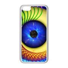 Eerie Psychedelic Eye Apple iPhone 5C Seamless Case (White)
