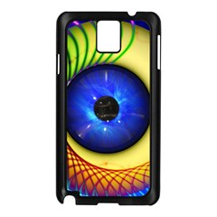 Eerie Psychedelic Eye Samsung Galaxy Note 3 N9005 Case (Black)