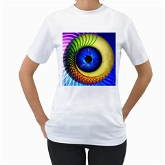 Eerie Psychedelic Eye Women s T Shirt (white)