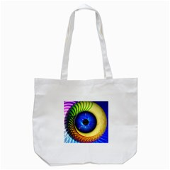 Eerie Psychedelic Eye Tote Bag (White)
