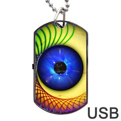 Eerie Psychedelic Eye Dog Tag Usb Flash (two Sides)