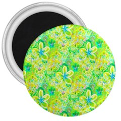 Summer Fun 3  Button Magnet