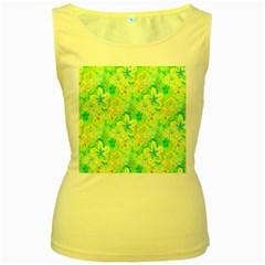 Summer Fun Women s Tank Top (yellow)