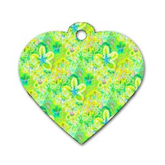 Summer Fun Dog Tag Heart (Two Sided)