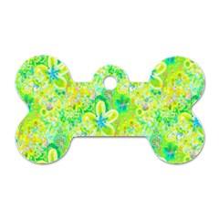 Summer Fun Dog Tag Bone (Two Sided)