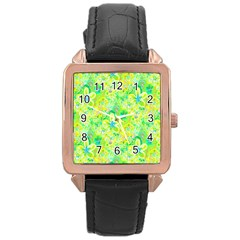 Summer Fun Rose Gold Leather Watch