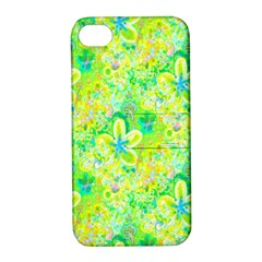 Summer Fun Apple Iphone 4/4s Hardshell Case With Stand