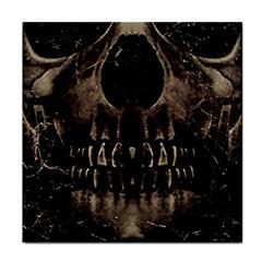 Skull Poster Background Ceramic Tile