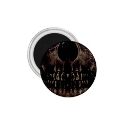 Skull Poster Background 1.75  Button Magnet