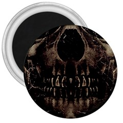 Skull Poster Background 3  Button Magnet