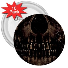 Skull Poster Background 3  Button (10 Pack)