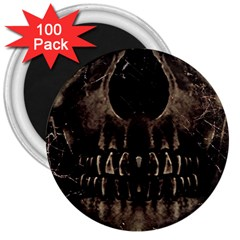 Skull Poster Background 3  Button Magnet (100 pack)