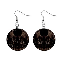 Skull Poster Background Mini Button Earrings