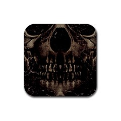 Skull Poster Background Drink Coasters 4 Pack (Square)
