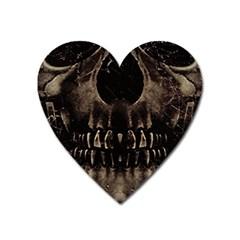 Skull Poster Background Magnet (Heart)
