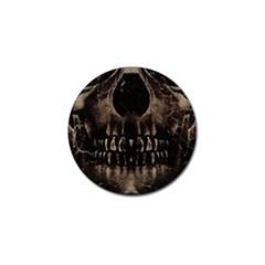 Skull Poster Background Golf Ball Marker