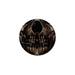 Skull Poster Background Golf Ball Marker 10 Pack