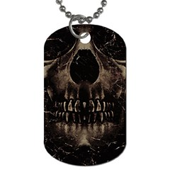 Skull Poster Background Dog Tag (two Sided)