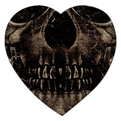 Skull Poster Background Jigsaw Puzzle (heart)