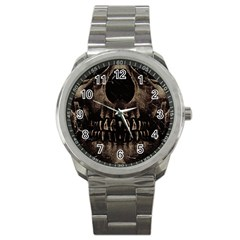 Skull Poster Background Sport Metal Watch