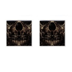 Skull Poster Background Cufflinks (square)