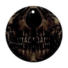 Skull Poster Background Round Ornament (Two Sides)