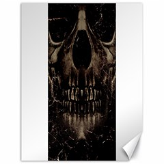 Skull Poster Background Canvas 18  X 24  (unframed)