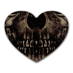 Skull Poster Background Mouse Pad (Heart)
