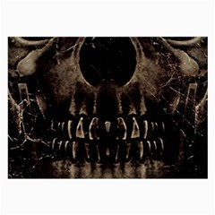 Skull Poster Background Glasses Cloth (large, Two Sided)
