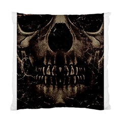 Skull Poster Background Cushion Case (two Sided)