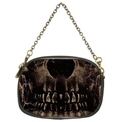 Skull Poster Background Chain Purse (two Sided)