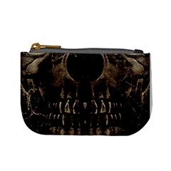 Skull Poster Background Coin Change Purse