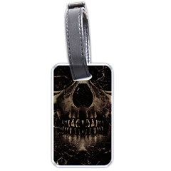 Skull Poster Background Luggage Tag (One Side)