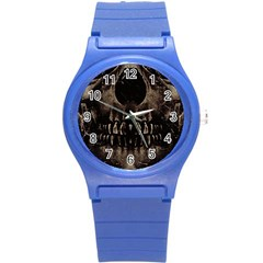 Skull Poster Background Plastic Sport Watch (Small)