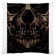 Skull Poster Background Large Cushion Case (two Sided)