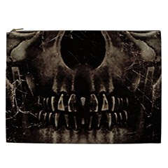 Skull Poster Background Cosmetic Bag (xxl)