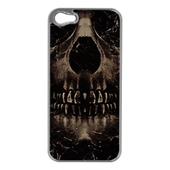 Skull Poster Background Apple iPhone 5 Case (Silver)