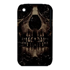 Skull Poster Background Apple iPhone 3G/3GS Hardshell Case (PC+Silicone)
