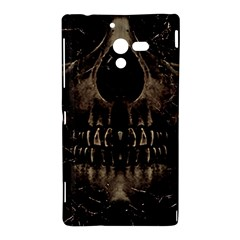 Skull Poster Background Sony Xperia ZL (L35H) Hardshell Case