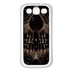 Skull Poster Background Samsung Galaxy S3 Back Case (White)