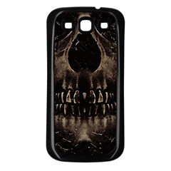 Skull Poster Background Samsung Galaxy S3 Back Case (Black)