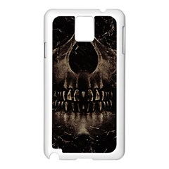 Skull Poster Background Samsung Galaxy Note 3 N9005 Case (White)