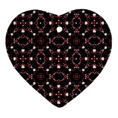 Futuristic Dark Pattern Heart Ornament